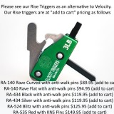 VELOCITY TRIGGER AR-15 VELO7 DROP-IN 3LB FLAT WITH FINGER STOP  - Plus choice of free accessory All Products